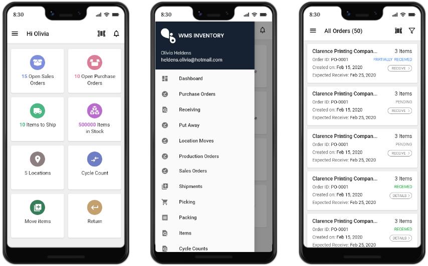 Warehouse management system app